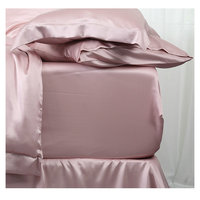 19m/m Pure White 100% Mulberry Silk Fitted Sheets Sets 1 pcs king queen twin multicolor silk bedding