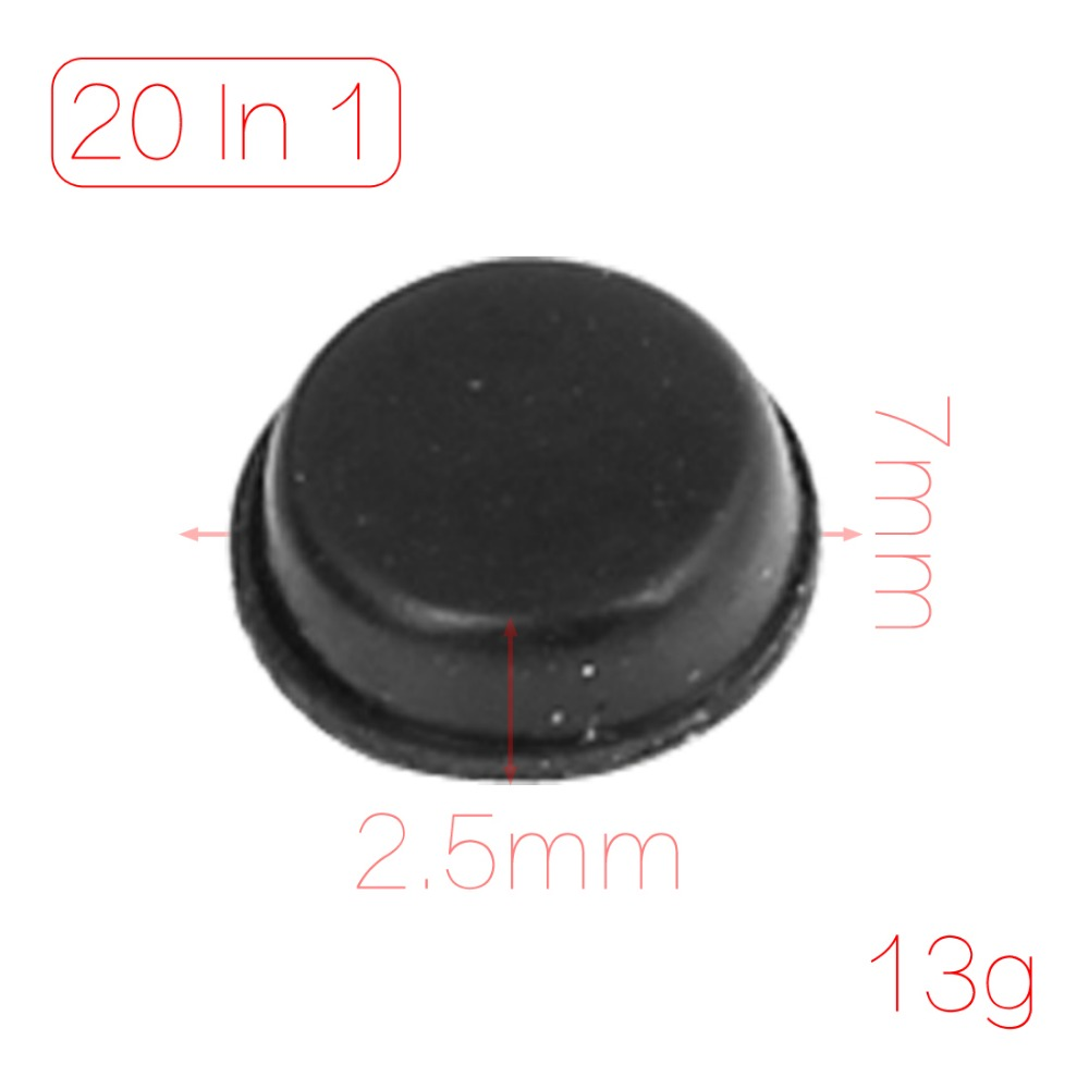 20 Pcs/lot   Table Chair Self Adhesive 7mmx2.5mm Mini Rubber Foot Feet Pads Covers A