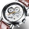 Relogio Masculino BINGER Mens Watches Top Brand Luxury Chronograph Quartz Watch Men Luminous Men Wrist Watch