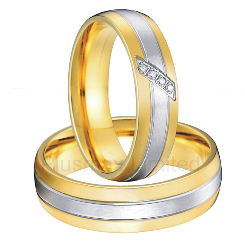 цена alliance Custom jewelry Comfort fit bicolor two tone classic custom wedding rings women men