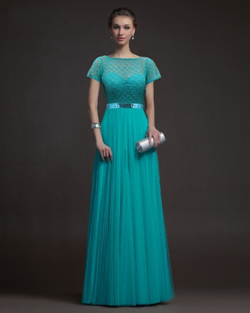 Cecelle 2016 Real Jade Modest Bridesmaid Dresses Long With Short ...
