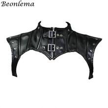 Женский корсет в стиле стимпанк Beonlema, черные готические топы, корсет, шаль, Женский корсет в стиле ретро, кожаные корсеты с заклепками
