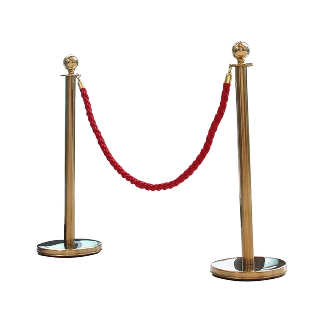 Mool 2 X Messing Warteschlange Barriere Beiträge Sicherheit Stanchion Seil Teiler Stahl Set Gold Das Ganze System StäRken Und StäRken Arbeitsplatz Sicherheit Liefert Safety Cones