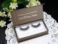 2016 New 1 pair Fake Eyelashes Makeup Tool Individual 100% Real Mink Lashes New False Eyelashes Soft Box Makeup A07