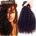 Cabelos Cacheados Crespo brasileiro Virgem Afro Kinky Curly Cabelo 3 Ofertas Bundle 7A cabelo Brasileiro Virgem Do Cabelo Curly Weave Do Cabelo Humano Nenhum Emaranhado