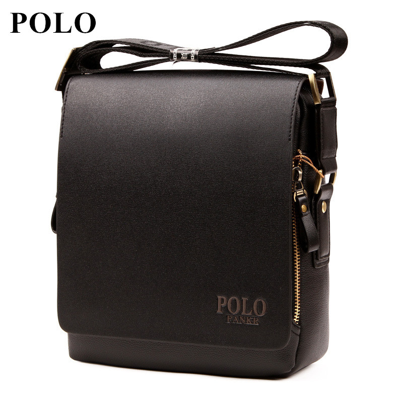 2018 POLO New Arrival Fashion Business pu Leather Men Messenger Bags Promotional Crossbody Shoulder Bag Casual Man Bag