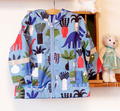 Crianças / crianças / meninos dinossauro jaqueta azul fresco, À prova de vento / jaqueta impermeável, Com capuz para a primavera / outono, Tamanho 92, 104