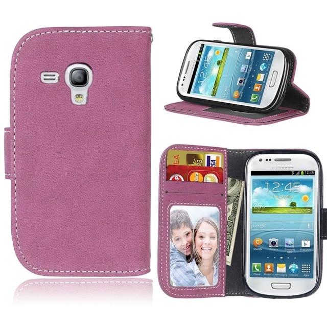 Frosted Leather Cover For Samsung Galaxy S3III mini S3 mini i8190 GT-i8190 phone Case For Coque Samsung Galaxy S3mini S 3 mini<<