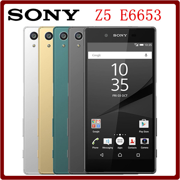 Цена за Оригинальный Разблокирована Sony Xperia Z5 E6653 32 ГБ ROM + 3 ГБ RAM LTE 23.0MP 5.2 Дюймов Octa Ядро 2900 мАч Одной Сим смартфон