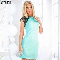 2017 Fashion Lace Patchwork Summer Dress Women O Neck Sleeveless Party Dresses Ukrai Ladies Casual Office