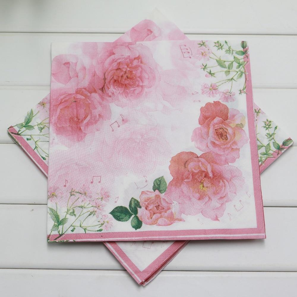 Modern paper napkin flower adornment wedding and flowers dorable flowered paper napkins festooning wedding and flowers mightylinksfo
