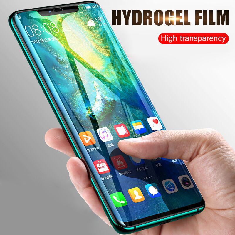 2Pcs P30 P20 Pro Hydrogel Film For Huawei Mate 20 Pro Lite For Honor 8X Max 10 9 Full Cover Hydrogel Screen Protector Not Glass in Phone Screen Protectors from Cellphones Telecommunications