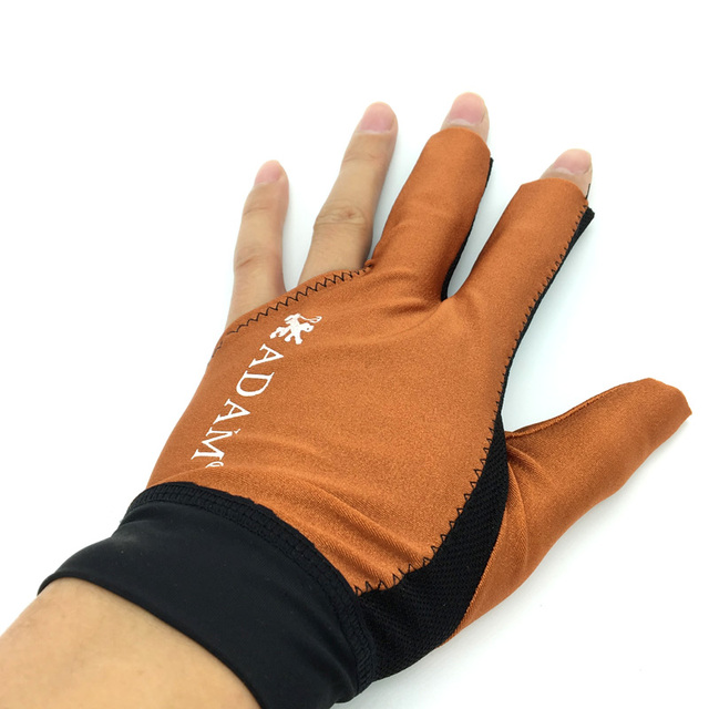 10pcs/lot High elastic fabric Adam Billiards Gloves free shipping Half-finger and left-hand Punch sheet snooker cue gloves 4