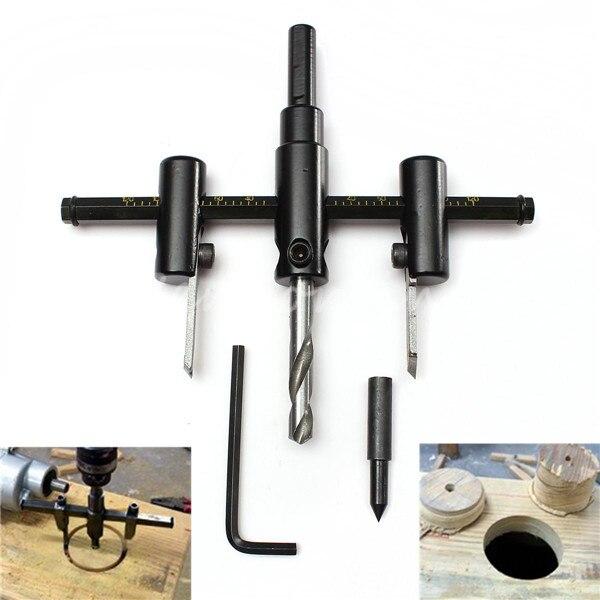 Handwerkzeuge 30mm 120mm Einstellen Holz Kreis Lochsage Cutter Tool