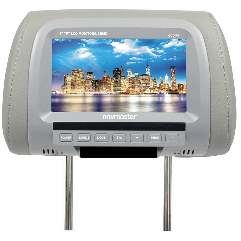 7 Inches Car Monitor TFT LED Screen Car Headrest Monitor DC 8-36V with Dual AV Video Input