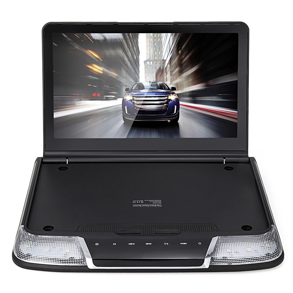 11.6 Inch Car Roof Mount DVD Player System with USB IR FM Transmitter HDMI Wireless games Built-in TV tuner and Dome LED lights zeepin 13 3 inch car multimedia roof mount player 1080p 120 degree rotating screen ir fm remote control wireless games auto dvd