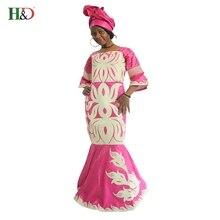H & D последние африканские моды конструкций Африканский Riche Базен Женская традиционное платье долго dashiki Африка Платья для Для женщин plusSize