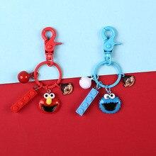 Sesame street keychain cute key ring for women Diy Mini key chain key holder creative portachiavi chaveiro llaveros bag charm цены онлайн