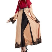 2017 Vintage Women Slim Summer Casual Dress Long Abaya Sleeve Soft Dress For Kaftan Islamic MuslimTurkish Arabic Appliques