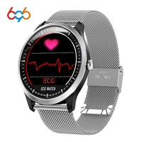 696 N58 ECG PPG smart watch with electrocardiograph ecg display holter ecg heartrate monitor blood pressure women smart bracelet
