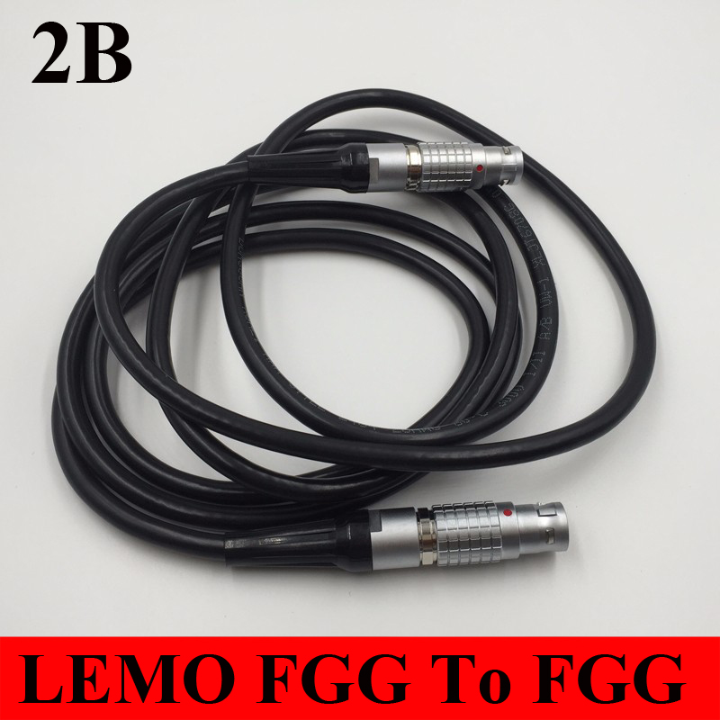 LEMO connector FGG To FGG Male Plug 2B 2 3 4 5 6 7 8 10 12 14 16 18 19 Pin Male Plug Cable Assemble Both Side Straight FGG Plug-in Connectors from Lights & Lighting    1