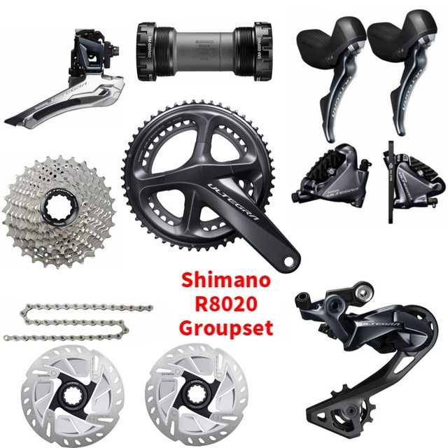 wiel Ultegra R8020 R8070 11 Speed Groupset  Road Disc Brake Groupset