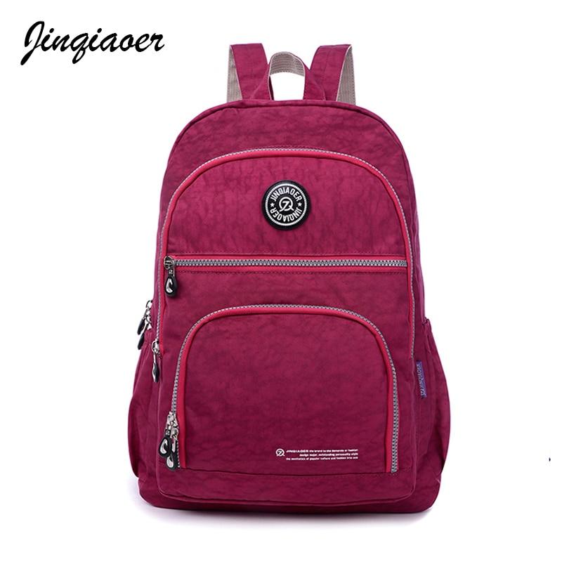 2017New Brand Nylon Backpack Waterproof Women Drawstring String Backpack Girl Student School Bag Ladies Casual Backpacks JQ043/q