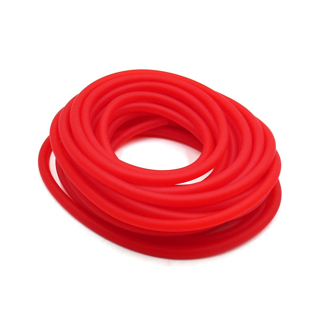 uxcell 10m Length 4mm Inner Dia Red Rubber Motorcycle Oil Hose Fuel Tube Petrol Pipe