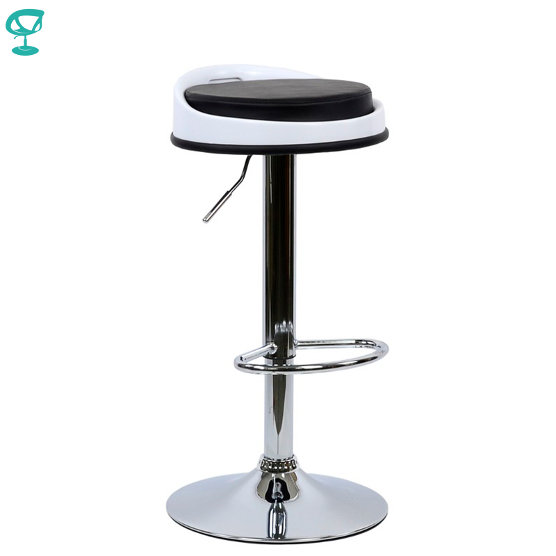 95181 Barneo N-49 High Plastic/Eco-leather Kitchen Breakfast Bar Stool Swivel Bar Chair Black Round Seat Free Shipping In Russia