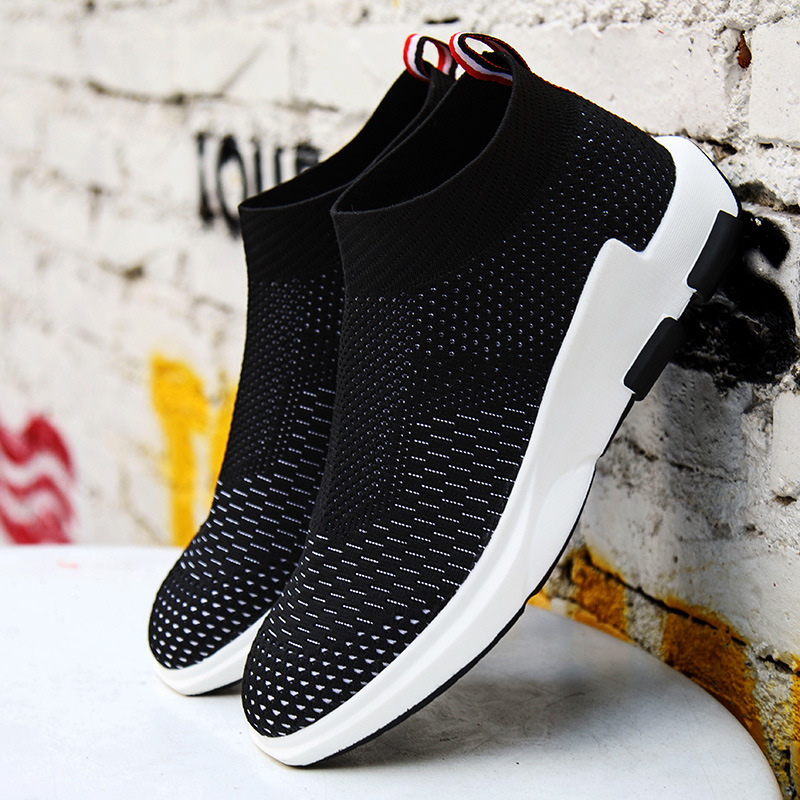 The Lightweight Fabric Shoes Men Sports Socks Flying Hoverboard Shoes Paris Sneaker Men Shoes Net Flat Sports Shoes ...