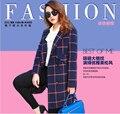 2016 весной новые дамы мода пальто с длинным рукавом чехол зерна тонкий слой высокое качество шерстяная ткань свободно большой размер женщин пальто G1347