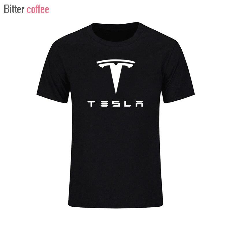 2017 NEW Tesla Motors Mens T Shirts Summer Funny Short Sleevs