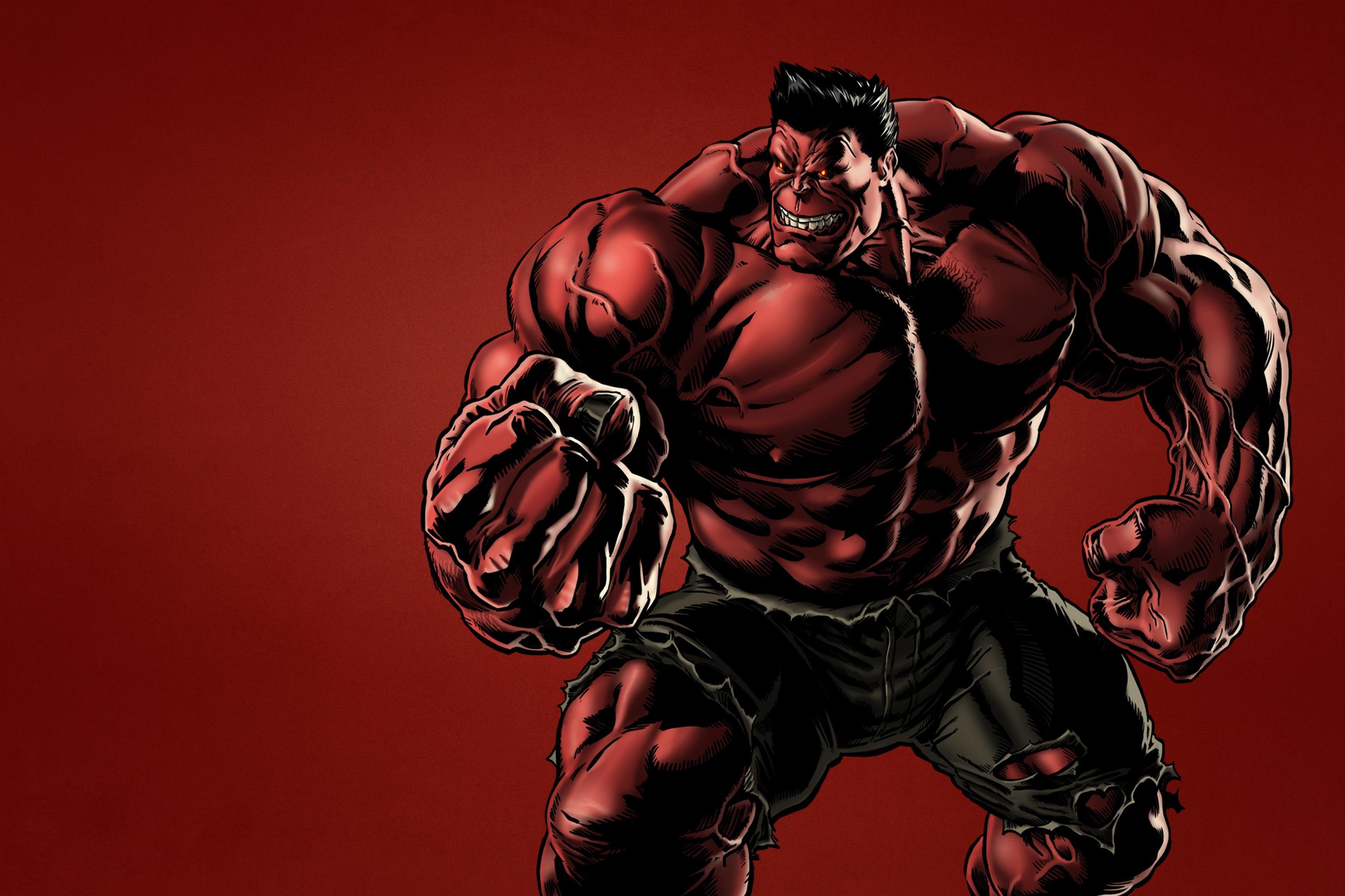 Home decoration Heroes comics hero Red superhero in jean pants Silk Fabric Poster Print QX220