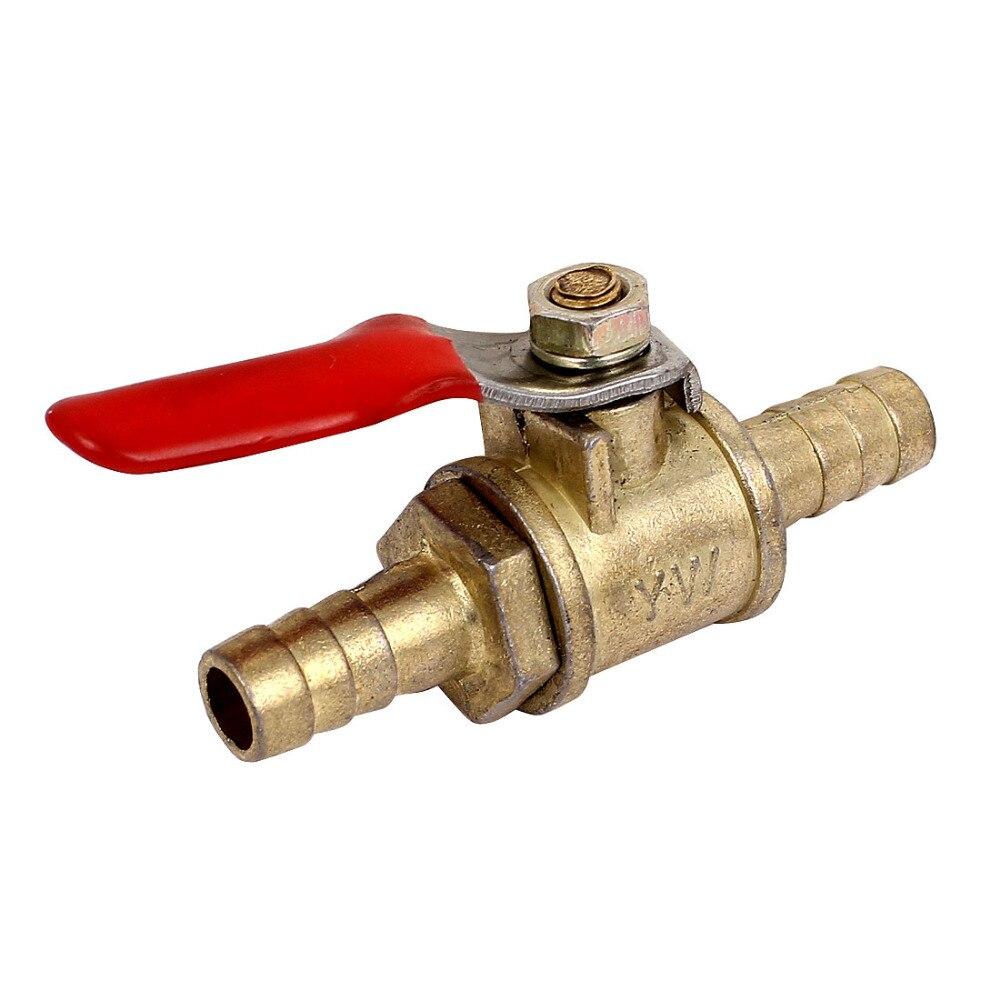 Manguera Barb en línea de latón agua aceite aire Gas línea de combustible apagado válvula de bola DC8V-DC16V, manipulador automático, válvula de cierre para alarma, dispositivo de seguridad de tubería de agua de Gas para cocina y baño