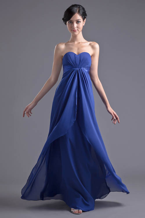 Sweetheart Royal Blue Chiffon Long Bridesmaid Dresses 2018 Sexy Backless Dress For Wedding Party vestido de festa longo