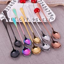 Stainless Steel Spoon With Long Handle Ice Spoon Coffee Spoon Tea Home Kitchen Tableware Spoons Size 19.5 CM #260599(China)