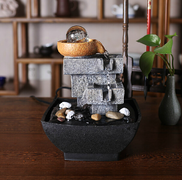 Aliexpress.com : Buy Home Decoration Water Fountain Fengshui Lucky Home  Outdoor Fountains Garden Decor Gifts New Year Home Decor High Quality Resin  From ...
