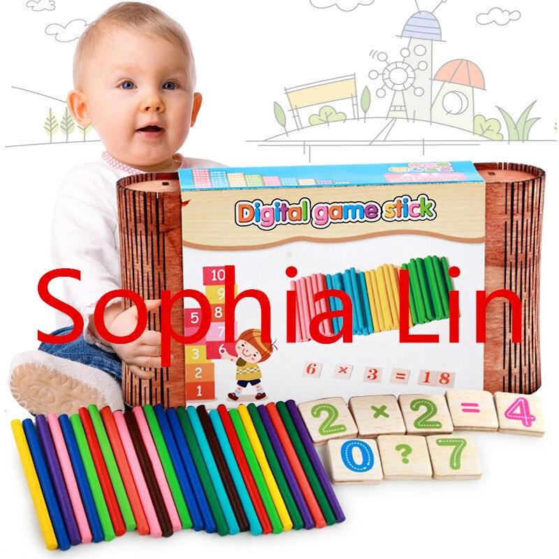Nieuwe houten baby speelgoed digitale spel stok baby educatief - Leren en onderwijs