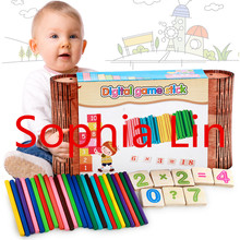New Wooden Baby Toys Digital Game Stick Baby Educational Toys Baby Gifts