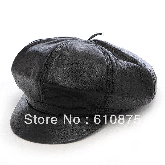 Man spring autumn 100% sheepskin hats wos