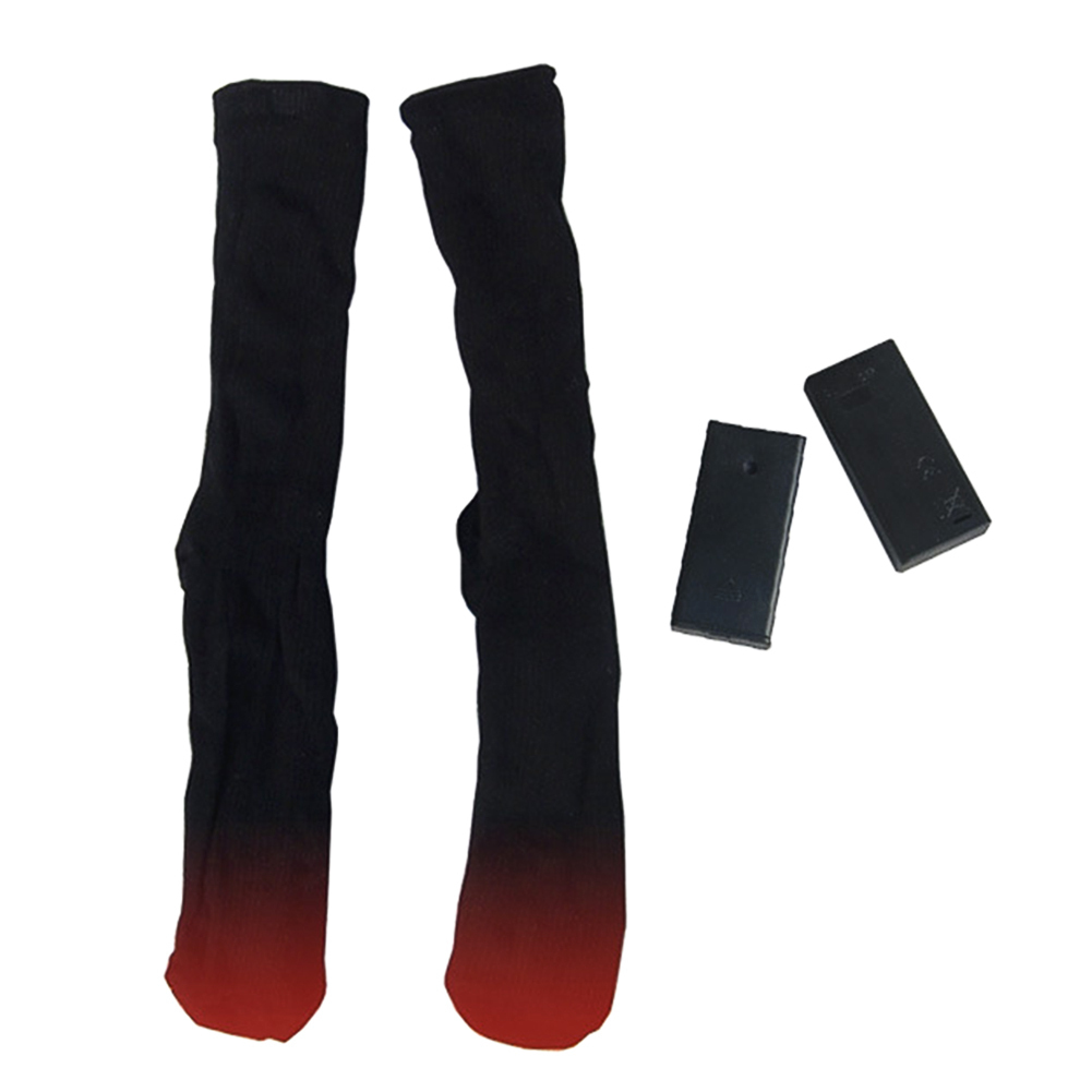 1 Pair Outdoor Battery Heated Socks Thermal Cotton Men Women Stocking Winter Foot Warmer Electric Socks Warming Socks