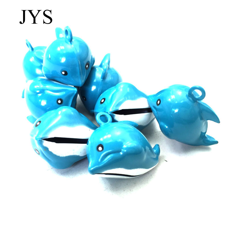 HOT SALE 25MM 10PCS/LOT JINGLE BELLS CHARMS DOLPHINS JINGLE BELLS CHAMRS FOR JEWELRY FINDING FOR BRACELET NECKLACE