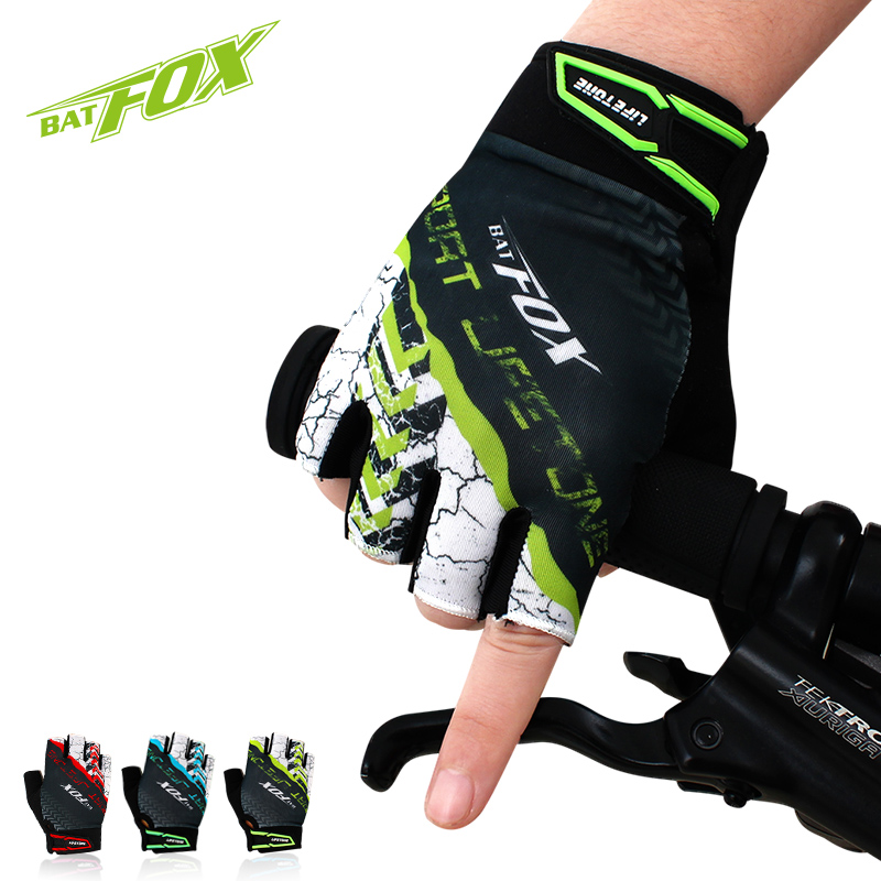 2019 BATFOX Unisex Half Finger Cycling Gloves Bike Gloves Summer Breathable Anti-shock Sports  Motorcycle  Bicycle Gloves