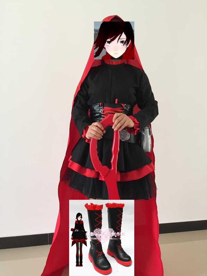 Cartoon Characters Rwby Red Trailer Ruby Rose Cosplay Costume Custom