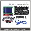 BIQU V1.4 3D kit de impresora con MKS MKS Gen Gen V1.4 RepRap junta + 5 UNIDS TMC2100 Conductor/DRV8825/A4988 + 12864 LCD Gráfico