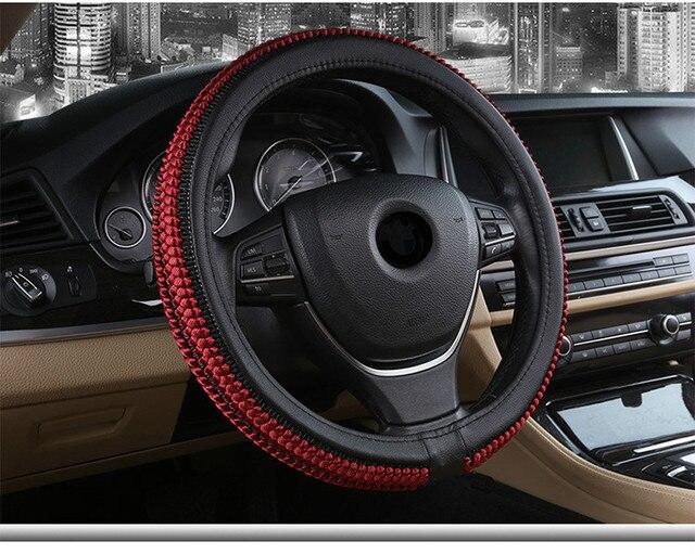 Knitted ventilating automobile steering wheel cover Comfortable automobile steering wheel cover Vehicle steering wheel