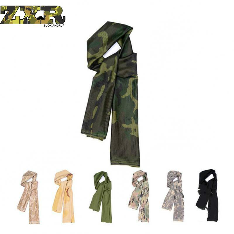Tactical Military Unisex camouflage   Scarf   Cool Airsoft Multifunctional Army Mesh Breathable   Scarf     Wrap   Mask Shemagh Veil