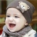 Детские шапки хлопок медведь детские шапки для мальчиков девочек синий розовый желтый новорожденных cap infan детские шапки корейский стиль новорожденных шляпы шапочки