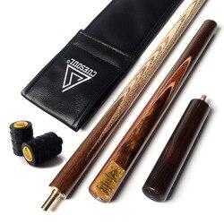 Cuescoul 57 Handcraft 3/4 Jointed Snooker Cue con extensión/Protector de articulación embalado en bolsa de Taco de cuero