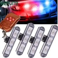 DC 12V Wireless Remote 4x3 Led Ambulance Police Light Strobe Warning Light For Car Truck Emergency